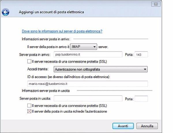 Istruzioni configurazione Windows Live Mail 4_127_7.jpg (Art. corrente, Pag. 7, Foto normale)